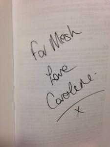 キャロラインさんのサイン